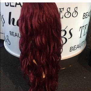 Accessories - Wig Burgundy Swisslace Lacefront Long Wavy Wig